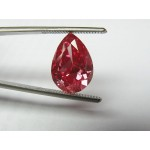 5,02 ct, PEAR, LIR, VVS2, Fan.RED, TREATED, G, Fair, Medium Orange