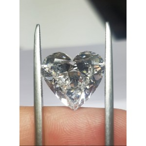 8,06 ct Heart D IF Ex Ex Non