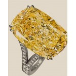 14,18 ct Cushion Fancy Intese Yellow